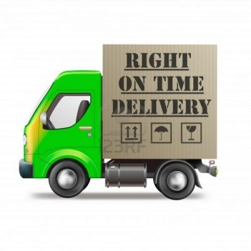 right-on-time-delivery-truck-logistics-icon