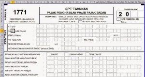 Formulir-SPT-Tahunan-1771-Format-Excel