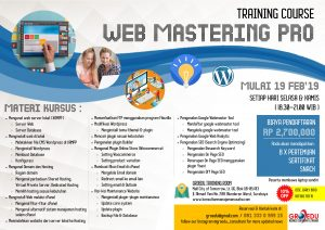 Poster Training Web Mastering