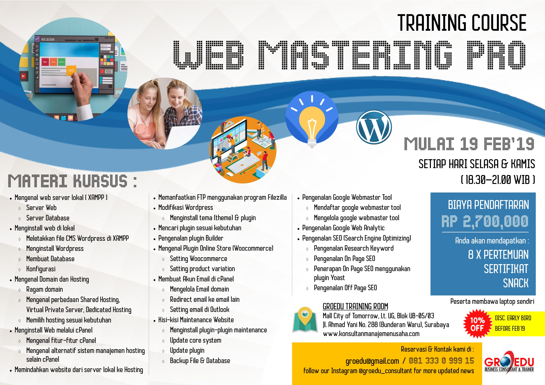 Poster Training Web Mastering