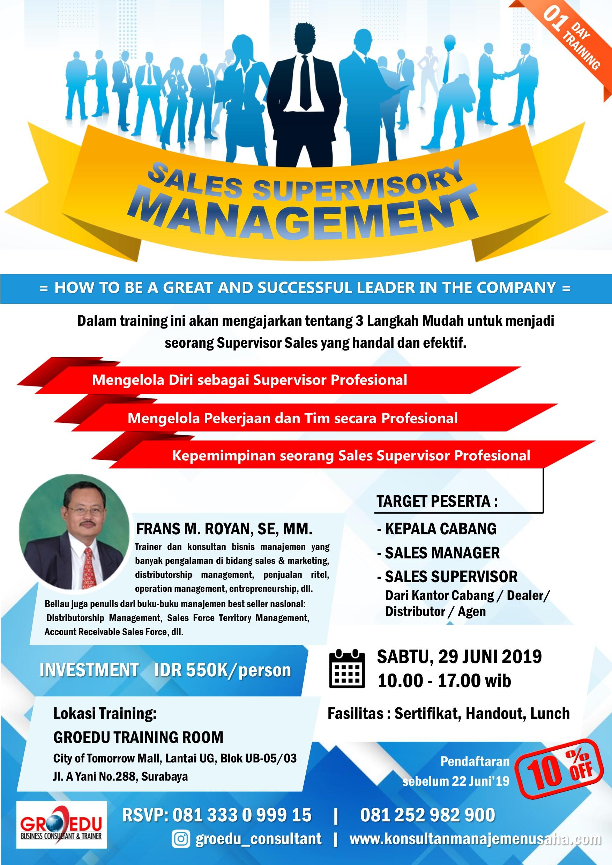 Poster Training Sales Supervisory Management 2019